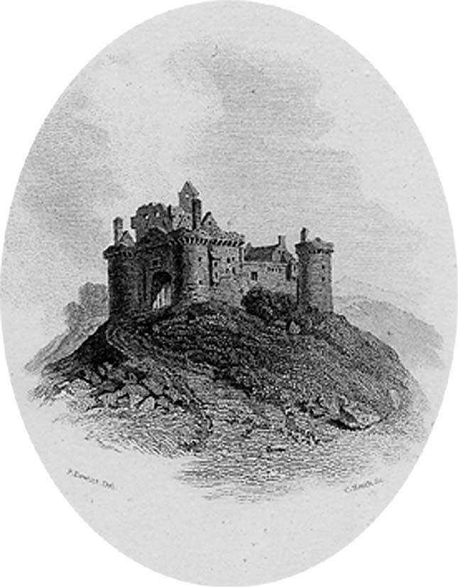 Ellangowan Castle, engraving by Charles Heath after Peter De Wint, 1832 (Corson P.3472)