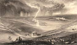 Field of Waterloo, engraved by W. Miller after J.M.W. Turner, 1835 (Corson A.13.COL.a.1834-6/16)