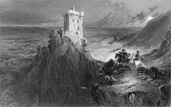 The Tower of Wolf's Crag, engraved by Edward Finden after Henry Melville, 1836 (Corson P.3646)