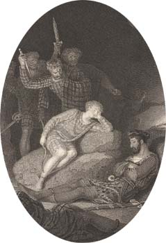 Murder of Allan, engraved by Charles Heath after Richard Westall, 1815 (Corson H.WES.1)