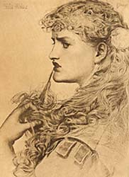 Proud Maisie, after Frederick Anthony Sandys, 1885 (Corson A.18.3.1.SON.1885)