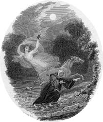 The White Lady and Father Philip, engraving by Charles Heath after Richard Westall, 1821 (P.2997)