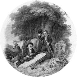 Old Mortality, engraved by William Home Lizars after William Allan, 1820 (Corson P.2901)