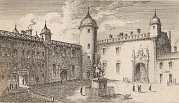 The Parliament Close, etched from a drawing by James Skene, 1829 (Corson B.SKE.3)
