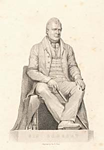 Sir Walter Scott, Bart., engraved by George B. Shaw after a statue by John Greenshields, 183-? (Corson P.6107)