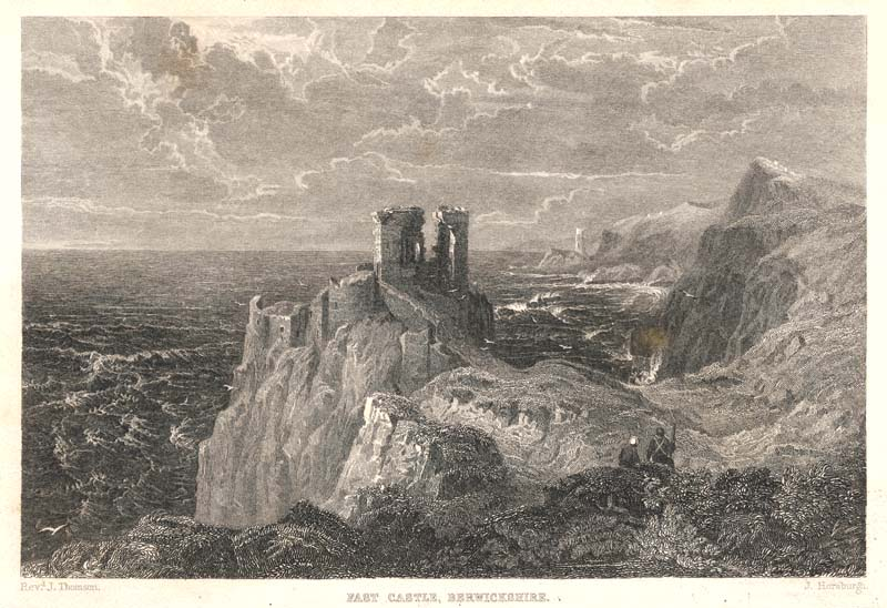 Fast Castle Berwickshire by John Horsburgh after the Rev ...