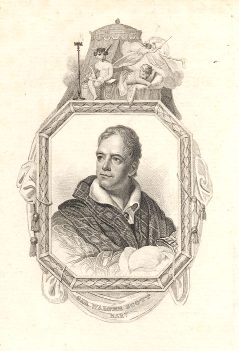 Sir Walter Scott, engraved by William Thomas Fry after ...